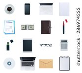business desktop objects... | Shutterstock . vector #286974233