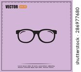 vector illustration glasses | Shutterstock .eps vector #286977680