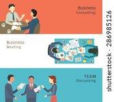 illustration of business... | Shutterstock .eps vector #286985126