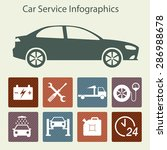 car service infographics. auto... | Shutterstock .eps vector #286988678