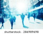 blur abstract people technology ... | Shutterstock . vector #286989698