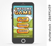 black smartphone with game...