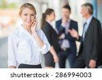young beautiful business woman...   Shutterstock . vector #286994003