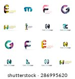 set of new universal company... | Shutterstock .eps vector #286995620