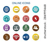 online long shadow icons  flat... | Shutterstock .eps vector #286995668
