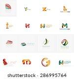 set of new universal company... | Shutterstock .eps vector #286995764