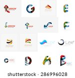 set of new universal company... | Shutterstock .eps vector #286996028
