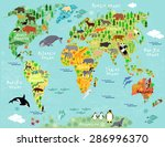 vector map of the world with... | Shutterstock .eps vector #286996370