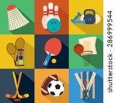 sport signs  symbols  button ... | Shutterstock .eps vector #286999544