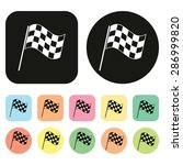 Checkered Flags Icon. Racing...