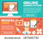 online consultation and medical ... | Shutterstock .eps vector #287000750
