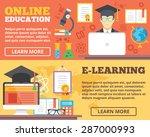 online education  e learning... | Shutterstock .eps vector #287000993