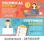 technical support  customer... | Shutterstock .eps vector #287002439