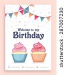 birthday party celebration... | Shutterstock .eps vector #287007230