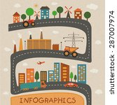 set of ecology infographic... | Shutterstock .eps vector #287007974