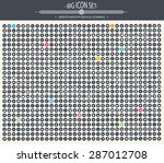 big icon set. universal website ... | Shutterstock .eps vector #287012708
