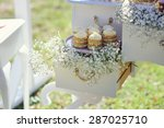 dessert table with cakes... | Shutterstock . vector #287025710