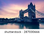 tower bridge in london at... | Shutterstock . vector #287030666