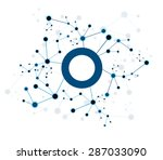 vector design network... | Shutterstock .eps vector #287033090