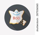 halloween cookies flat icon...   Shutterstock . vector #287036060
