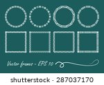 art deco set of vintage circle... | Shutterstock .eps vector #287037170