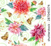 vector seamless pattern with... | Shutterstock .eps vector #287040374