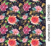 vector seamless pattern with... | Shutterstock .eps vector #287040380