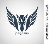 Stock vector pegasus logo vector 287043626