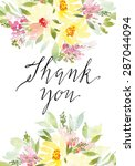 watercolor greeting card... | Shutterstock .eps vector #287044094
