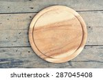 cutting board on vintage... | Shutterstock . vector #287045408