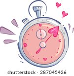 illustration of a stopwatch... | Shutterstock .eps vector #287045426