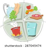 icon illustration featuring... | Shutterstock .eps vector #287045474