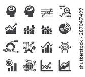 analytics icon set | Shutterstock .eps vector #287047499