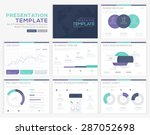 set of infographic presentation ... | Shutterstock .eps vector #287052698