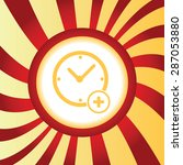 yellow icon with image of clock ...