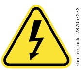 illustration of high voltage... | Shutterstock .eps vector #287057273