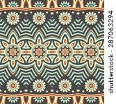 seamless pattern. vintage... | Shutterstock .eps vector #287063294