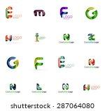 set of new universal company... | Shutterstock . vector #287064080