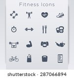 16 fitness  gym  sport  workout ... | Shutterstock .eps vector #287066894