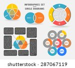 vector infographics set of... | Shutterstock .eps vector #287067119
