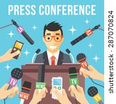 press conference. live report ... | Shutterstock .eps vector #287070824