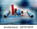 business graph   Shutterstock . vector #287073059