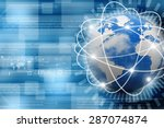 best internet concept of global ... | Shutterstock . vector #287074874