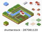 isometric landscape of... | Shutterstock .eps vector #287081120