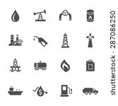 oil industry icon set | Shutterstock .eps vector #287086250