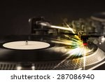 music player playing vinyl with ... | Shutterstock . vector #287086940