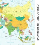 asia map   highly detailed... | Shutterstock .eps vector #287094560