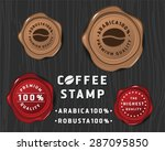 coffee badge banner design with ... | Shutterstock .eps vector #287095850