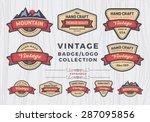 set of vintage badge logo...
