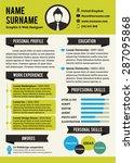 green personal curriculum vitae ... | Shutterstock .eps vector #287095868